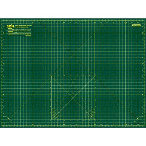 1 Inch Grid Cutting Mat - ansio a2 sided self healing 5 layers cutting mat