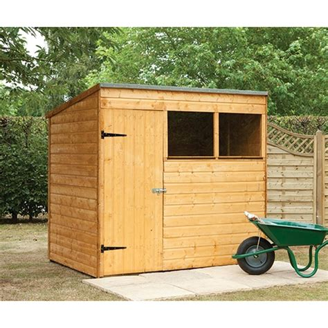 7x5 Sheds For Sale by Shedswarehouse Hanbury 7x5 Wooden Shiplap Pent