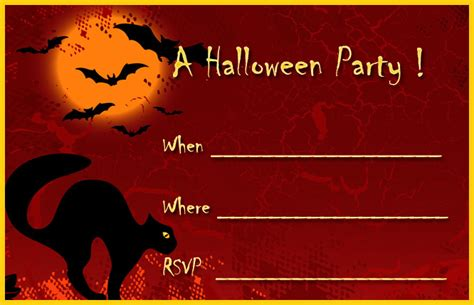 Halloween Card Templates Free 16 Awesome Printable Halloween Party Invitations Kitty