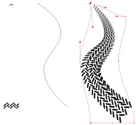 image pattern tracking curved tire tracks help coreldraw graphics suite 12