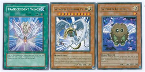 YuGiOh 3-Card WINGED Set Winged Kuriboh, Winged Kuriboh ... Winged Kuriboh Lv10