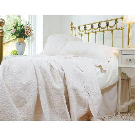 White Quilted Bedspread White Quilted Bedspread Powell Craft