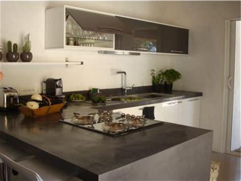 plan de travail cuisine effet beton faire un plan de travail en b 233 ton cir 233 dans la cuisine