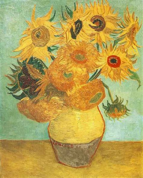 Vincent Gogh Vase With Twelve Sunflowers by Vincent Gogh Ilikeiwishiheart