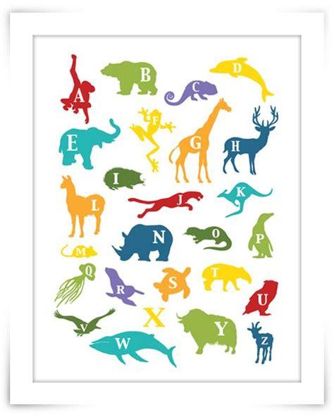 printable nursery poster tier alphabet kann per mail als a3 vorlage angefordert
