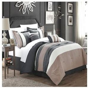 gray and tan bedding chic home carlton taupe grey tan queen 6 piece comforter polyvore