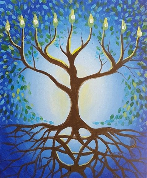 paint nite the tree paint nite hanukkah tree of