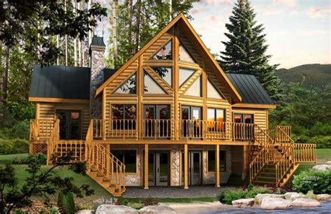 dakota log home plan by timber block mywoodhome