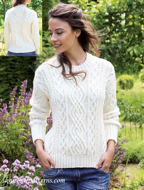 womens jumper knitting patterns free s aran jumper knitting pattern free