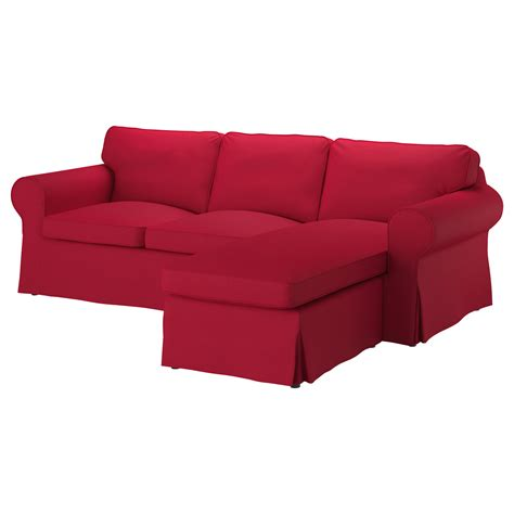 two seat sofa and chaise longue ektorp two seat sofa and chaise longue nordvalla red ikea