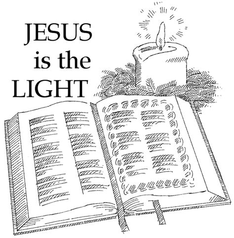 jesus is the light of the world coloring pages