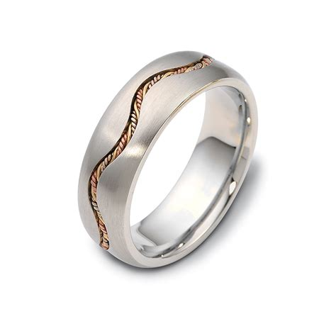 tri color gold roped wedding band wandering timeless