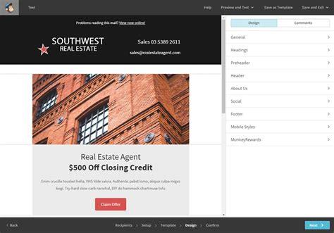 design header mailchimp real estate mailchimp template southwest