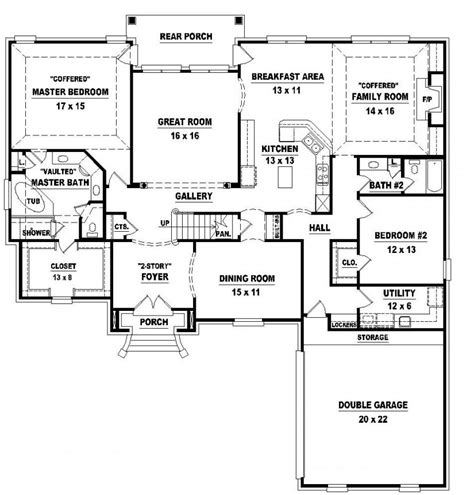 4 Bedroom One Story House Plans Marceladick Com House Plans Two Story 4 Bedrooms