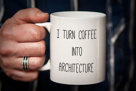 gift for architecture student architect mug gift for architect i turn coffee into