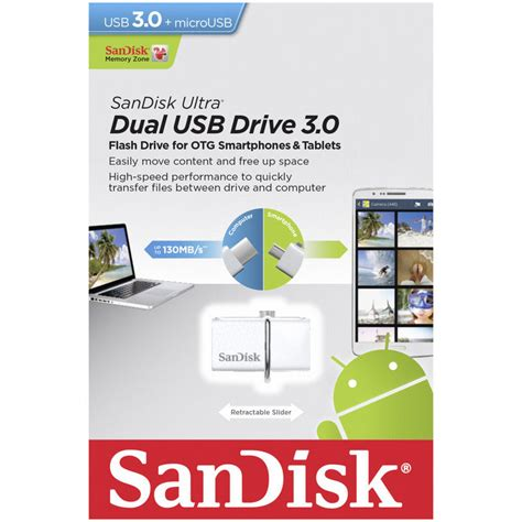 Sandisk Otg Usb 3 0 32gb sandisk ultra 32gb dual usb 3 0 otg blanco pccomponentes