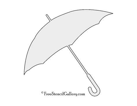 umbrella template umbrella stencil free stencil gallery