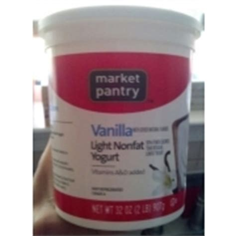 market pantry yogurt non vanilla calories