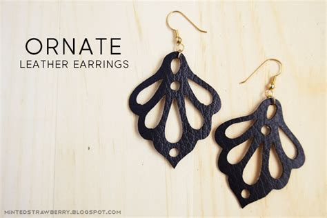 Earring Card Template Silhouette by Minted Strawberry Diy Ornate Faux Leather Earrings Using