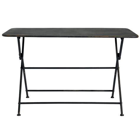 folding metal garden table by out there exteriors