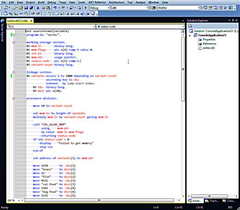 cobol linkage section exle it s a cobol world declarative sorting of dynamically