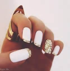 white and gold nail designs images amp pictures becuo
