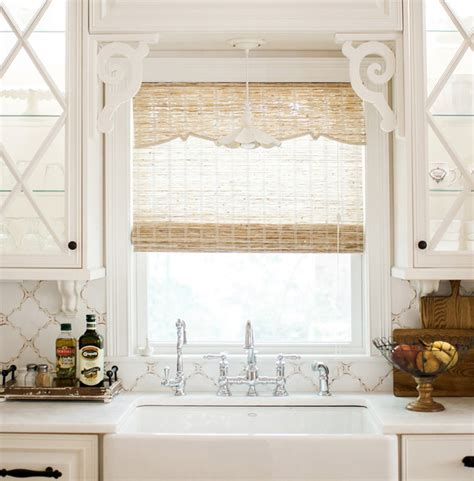 Kitchen Blinds And Shades Florida House Remodel With Woven Wood Shades