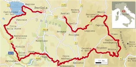 Motorradtouren Umbrien by Italien Spezial Umbrien Info Karte Tourenfahrer