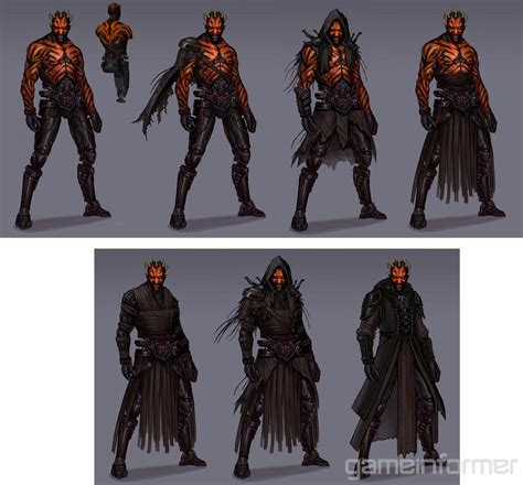 canned darth maul game footage  concept art leaks