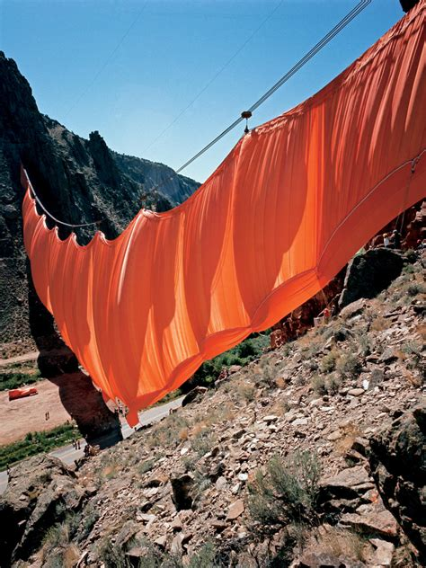 christo and jeanne claude valley curtain christo jeanne claude fine arts artists the red list