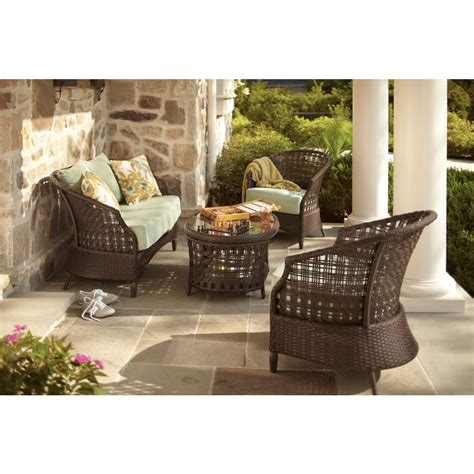 hton bay haver hill 4 patio conversation set with