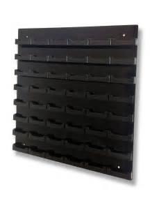 wall mounted business card display rack 48 pocket black w black business card holder acrylic wall