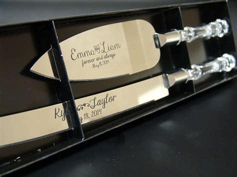 Wedding Knife Set by Amazoncom Personalized Wedding Cake Knife And Server Set
