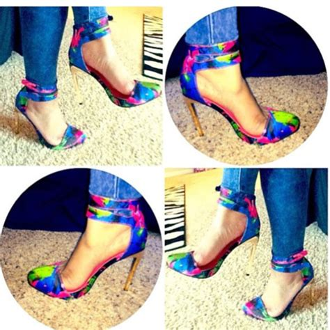 multi colored high heels shoes multicolor high heels wheretoget