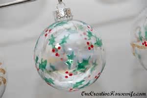 one creative housewife diy christmas ornaments