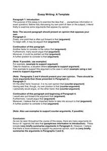 Easy Essay Exles by Essay Writing Template
