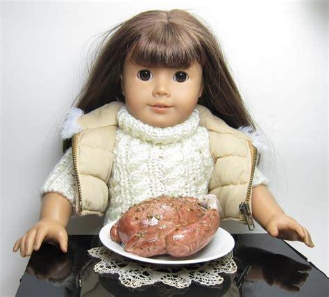 doll thanksgiving turkey polymer clay miniature roast turkey  ameri brown eyed rose
