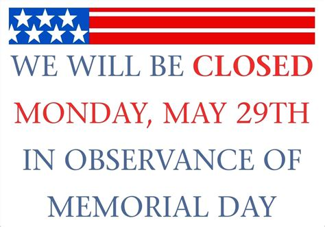 slide 02 18 memorial day closed sign template 4gwifi me