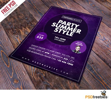 summer drinks premium flyer template facebook cover