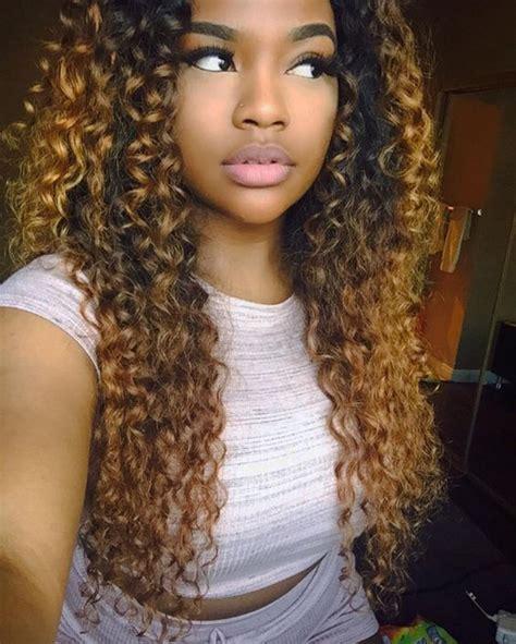 black sew in hairstyles 2015 black curly weave sew in 10 chocolate godde summerella instagram fotos und