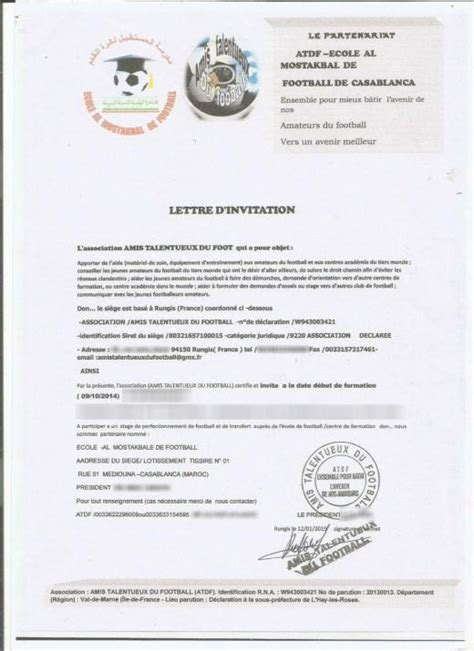 Invitation Letter For Moroccan Visa How Football Academies Scam Footballers