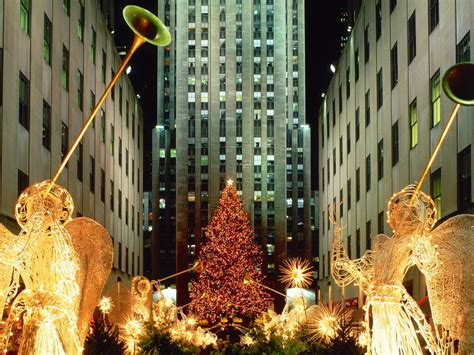 christmas at rockefeller christmas wallpaper 2735643