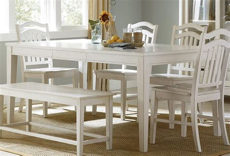 white dining room table with bench and chairs liberty furniture store dining sets chairs and tables w bench home decor