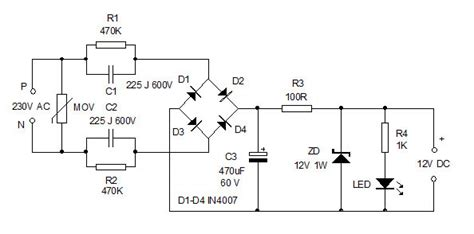 capacitor based power supply circuit diagram another faulty circuit from professor