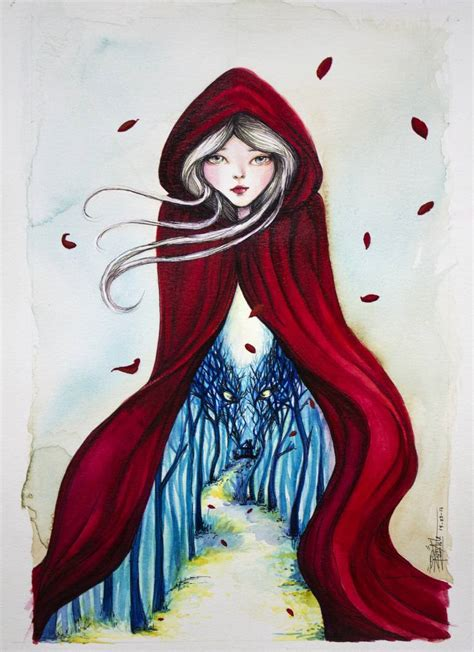 red riding hood 2304 saatchi art little red riding hood painting by josymar