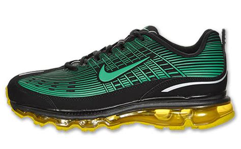 Nike Air Max 2006 by Nike Air Max 2006 Leather Black Green Speed Yellow Sneakernews