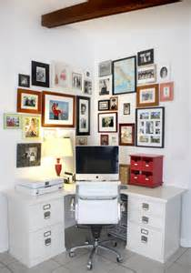 Small Desk Area Organization Home Office With Photo Wall House Mix