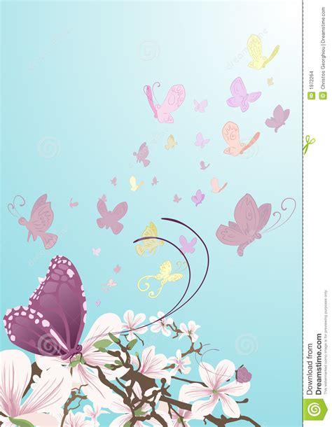 imagenes de mariposas bonitas animadas mariposas y flores hermosas ilustraci 243 n del vector