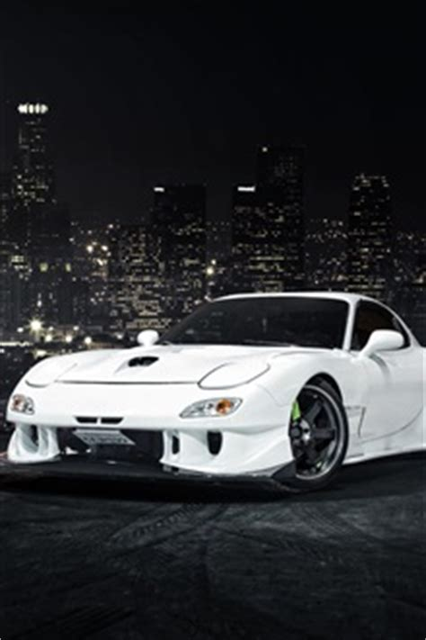 madza rx 7 iphone mazda rx 7 white car front view iphone wallpaper