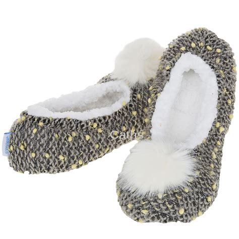 slippers snoozies snoozies nubby knit slipper foot coverings sherpa fleece
